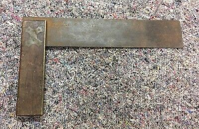Large Vintage Try Square With Wood Handle And Brass Trim