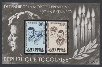 Togo 10th Death Anniversary of Pres Kennedy MS MNH SG#MS972 SC#C208a