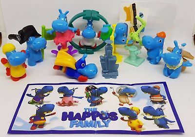 The Happos Family Complete Set With All Papers Kinder Surprise 2018