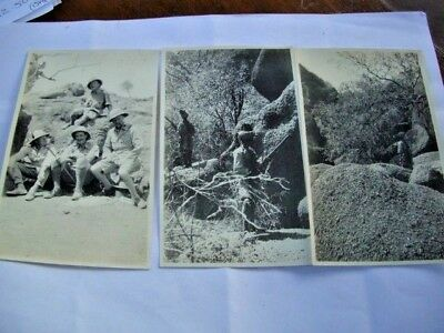 British Soldiers in Khaki Uniform & Pith Helmets- & 2 of Indian Photos 1930s