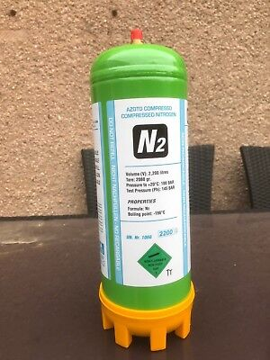 Nitrogen Disposable Gas Bottle 2.2 Ltr Cylinder Aircon, etc @ 100 bar E89N
