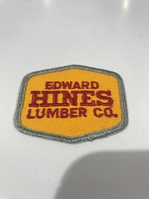 Vtg EDWARD HINES LUMBER CO. (Illinois) Advertising Patch