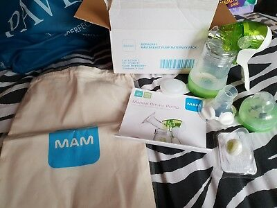 Mam Manual Breast Pump With Adjustable Funnel Brand New