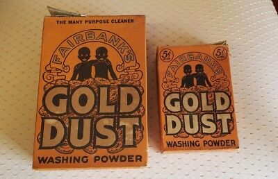 Antique Gold Dust Washing Powder Lot of 2 Boxes, Great Advertising! Free Ship!