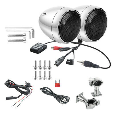 300W Bluetooth Motorcycle Stereo Speaker Handlebar Audio System for Harley