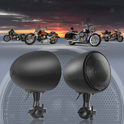 600W Bluetooth Motorcycle Stereo Speaker Handlebar Audio System for Harley