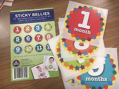 STICKY BELLIES baby month photography stickers - Gender Neutral