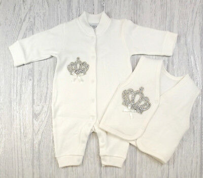 Spanish Romany Baby Boys Girls Bow Romper Babygrow All In One Blue 3 Months