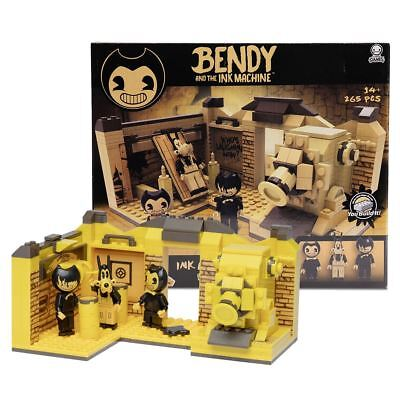 New Bendy And The Ink Machine Room Buildable Scene Set & Mini Figures Official