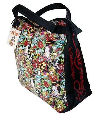 Ed Hardy by Christian Audigier Travel Tote Bag NEW