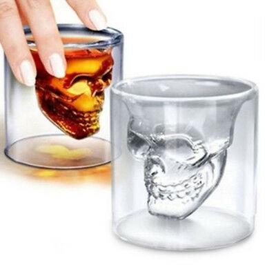 1pc Skull Head Vodka Shot Whiskey Wine Beer Bar Glass Drinking Decanter Cup