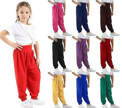 Kids Unisex Girls Boys Hareem Ali Baba Full Length Children Leggings Pants 5-13