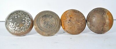 Old Fancy Door Knob Group Of 4 Different Repurpose Vintage  As Found