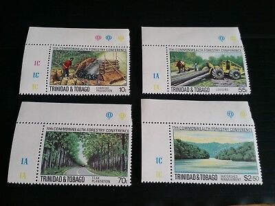 Trinidad And Tobago 1980 Sg 572-575 11Th Commonwealth Forestry Conf Mnh