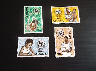 Ghana 1971 Sg 620-623 25Th Anniv Of Unicef Mnh