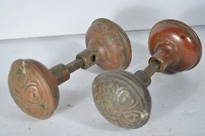Vintage Matching Door Knobs Fancy Design Group Of 4 Antique Old Doorknobs