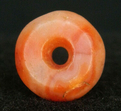 KYRA MINT - ANCIENT Agate BEAD - 14.4 mm DIA - Neolithic AGE - Sahara
