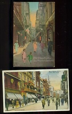 Vintage Chinatown New York and San Francisco Postcards
