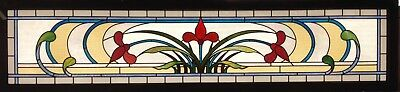 Art Nouveau Stained Glass Transom Window