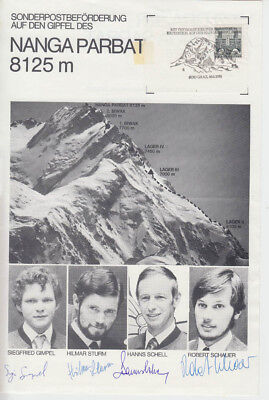 Nanga Parbat 1976 Erstbegehung Schell-Route HIMALAYA EXPEDITION signiert signed