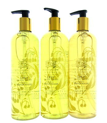 LILLY OF THE VALLEY  x 3 luxury hand wash 500mls each fitzherbert & prince