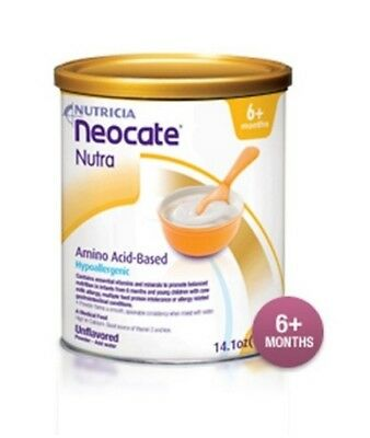 Neocate Nutra Powder Amino Acid Baby Toddler Cereal for Milk Allergies Case of 4