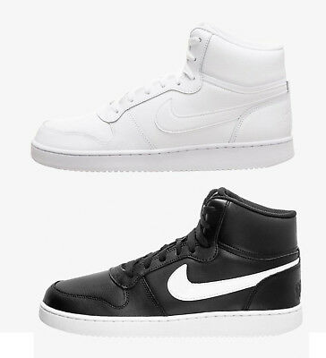 Nike Ebernon Mid AQ1773 Col. Bianco Nero Sneakers Uomo ispirate AIR FORCE  ONE 00c4696e9af