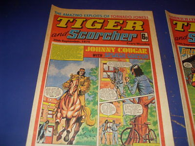 Tiger & Scorcher Comics  13Th Sept / 20Th Sept   1975