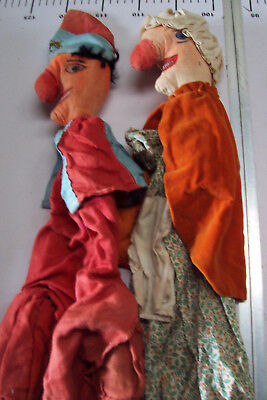 ~~Vintage Collection Of Eleven Punch And Judy Hand Puppets---Loft Find~~~