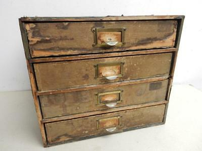 really old WOOD box old Tennyson cabinet