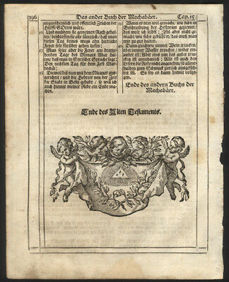 2nd  Maccabees Chap 15 End of Old Testament 1705 Bohemian Catholic Bible Leaf