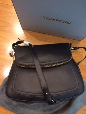 1856f21fa New TOM FORD Jennifer Bag Black Leather Large Crossbody Handbag Purse $2950  NIB