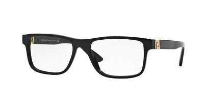 3a7f4c163f0a BRAND NEW VERSACE Eyeglasses Frames 3211 GB1 BLACK for Men 100 ...