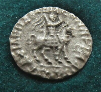 35 BC - 5 AD  BACTRIA AZES II, SILVER DRACHM , 16 mm , = 1.94 g , IN KAPSEL