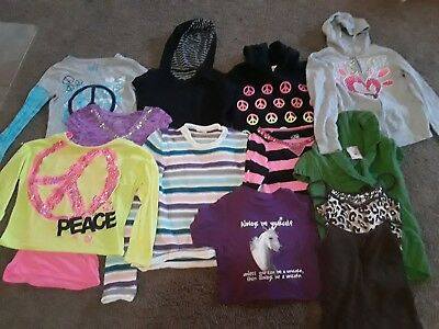 Girls 12 Pc Justice Lot Fall/Winter Clothes