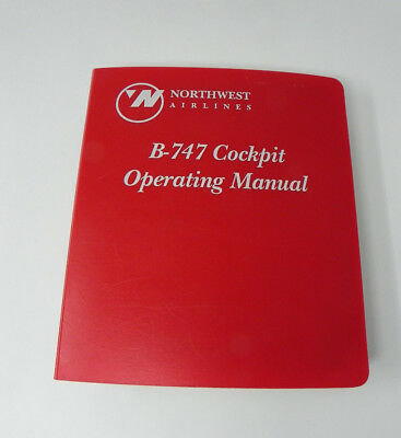 Northwest Airlines Boeing B-747 200 Pilot Aircraft Cockpit Operating Manual NWA
