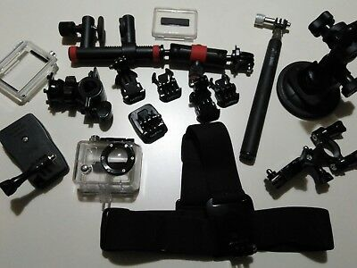 Job lot of go pro bits and pieces Clips Grips Covers head mount selfie stick