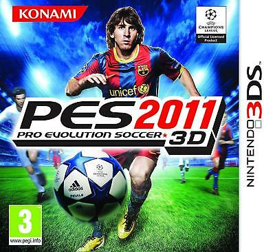 Pro Evolution Soccer PES 2011 3D for 3DS XL PAL VERY GOOD CONDITION + MANUAL