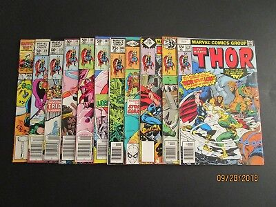 The Mighty Thor Lot Of 11 Comic Books. 275. 278-279, 295, 300, 302, 310-314, 366