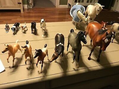 Breyer Lot of 10 Horses, 5 Companions, 1 Cowgirl Used Some With Wear Shown