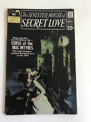 Sinister House of Secret Love #1 1971 Wes Craven DC Bronze Age Rare Horror