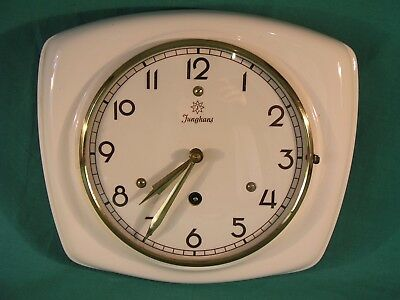 Vintage Junghans Ceramic Wall Clock 19/1039E - Not Working