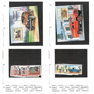 Lot of 106 Chad MNH Mint Never Hinged Stamps Scott Range 83 - 838 #135350 X R