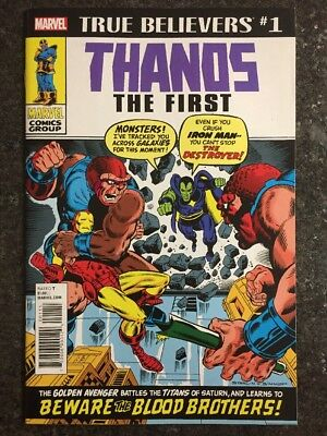 Thanos The First True Believers Reprinting Iron Man #55 1St Thanos & Drax