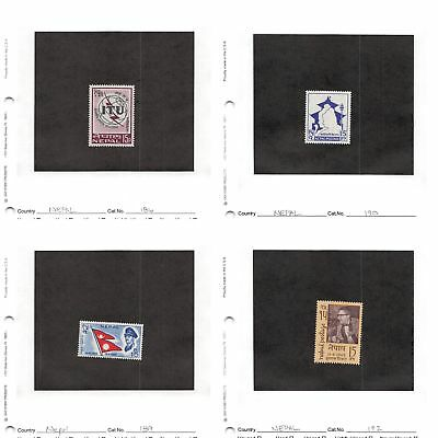 Lot of 49 Nepal Mixed Condition Stamps Scott Range 27-570, 012-15 #132985 X