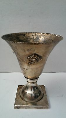 """7"""" Vintage Silver Plated Chalice/Cup/Vase"""
