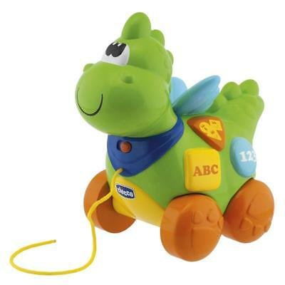 Chicco Educational French + English Speaking Pull Along Electronic Dragon Baby