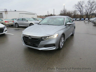 2018 Honda Accord Sedan LX CVT LX CVT New 4 dr Sedan CVT Gasoline 1.5L 4 Cyl Lunar Silver Metallic