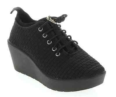 "Steven by Steve Madden ""Base"" Pull-On Wedge Sneaker Shoe~Black~Women 11~NWT"