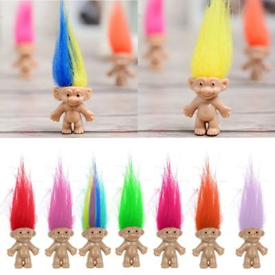 Wholesale 10Pcs Lot Random Vintage Trolls Lucky Doll Mini Figures Cake Toppers